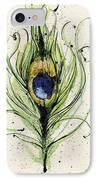 Peacock Feather IPhone Case by Mark M  Mellon