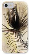 Peacock Feather Silhouette IPhone Case by Sarah Loft