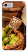 Pears - 15 Cents Per Basket IPhone Case by Christine Till