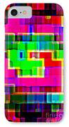 Phone Case Art Intricate Colorful Dynamic Abstract City Geometric Designs By Carole Spandau 131 Cbs  IPhone Case by Carole Spandau
