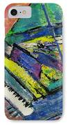 Piano Blue IPhone Case by Anita Burgermeister