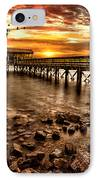 Pier At Smith Mountain Lake IPhone Case by Joshua Minso