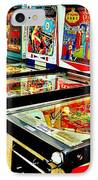 Pinball Alley IPhone Case by Benjamin Yeager