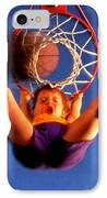 Playing Basketball IPhone Case by Lanjee Chee
