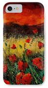 Poppies 68 IPhone Case by Pol Ledent