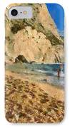 Porto Katsiki Beach In Lefkada Island IPhone Case by George Atsametakis