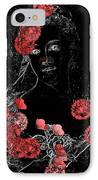 Portrait In Black - S0201b IPhone Case by Variance Collections