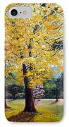 Poui Trees In The Savannah IPhone Case by Karin  Dawn Kelshall- Best