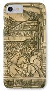 Presentation Drawing Of The Automotive Panel For The North Wall Of The Detroit Industry Mural IPhone Case by Diego Rivera