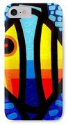 Psychedelic Fish IPhone Case by John  Nolan