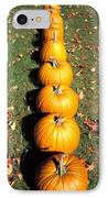 Pumpkins In A Row IPhone Case by Anonymous