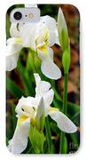 Purity In Pairs IPhone Case by Kathy  White