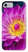 Purple Lily On The Water IPhone Case by Nick Zelinsky