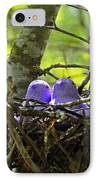 Purple Peeps Pair IPhone Case by Al Powell Photography USA