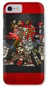 Quetzalcoatl In Human Warrior Form - Codex Borgia IPhone Case by Serge Averbukh