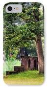 Quiet Park Corner. De Haar Castle IPhone Case by Jenny Rainbow