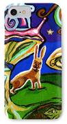 Rabbits At Night IPhone Case by Genevieve Esson