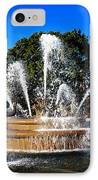 Rainbow In The Jc Nichols Memorial Fountain IPhone Case by Andee Design