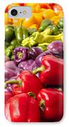 Rainbow Of Peppers IPhone Case by Teri Virbickis
