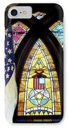 Recollection Union Soldier Stained Glass Window Digital Art IPhone Case by Thomas Woolworth