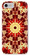 Red And White Patchwork Art IPhone Case by Barbara Griffin