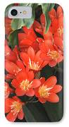 Red Blossoms At Lax IPhone Case by Deborah Smolinske