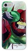 Red Helleborous IPhone Case by Karin  Dawn Kelshall- Best