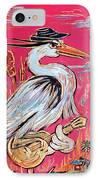 Red Hot Heron Blues IPhone Case by Robert Ponzio