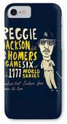 Reggie Jackson New York Yankees IPhone Case by Jay Perkins