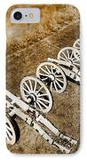 Revolutionary War Cannons IPhone Case by Olivier Le Queinec