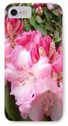 Rhododendron Garden Art Prints Pink Rhodie Flowers IPhone Case by Baslee Troutman