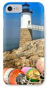 Robinson Point Lighthouse IPhone Case by Adam Jewell