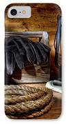 Rope In The Ranch Barn IPhone Case by Olivier Le Queinec