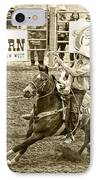 Roping IPhone Case by Caitlyn  Grasso