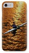Rowing Into The Sunset IPhone Case by Bill Cannon