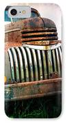 Rusty Old Chevy Pickup IPhone Case by Edward Fielding