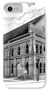 Ryman Auditorium In Nashville Tn IPhone Case by Janet King
