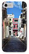 San Juan Alley IPhone Case by John Rizzuto