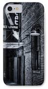 Scat Lounge In Cool Black And White IPhone Case by Joan Carroll