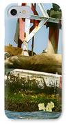 Sea Lions Floating On A Buoy In The Pacific Ocean In Dana Point Harbor IPhone Case by Artist and Photographer Laura Wrede