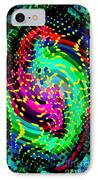 Seahorse Phone Case Art Colorful Dynamic Abstract Geometric Design By Carole Spandau 130  Cbs Art IPhone Case by Carole Spandau