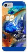 Serenity Prayer 4 - By Sharon Cummings IPhone Case by Sharon Cummings