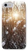 Setting Sun In Winter Forest IPhone Case by Elena Elisseeva