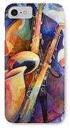 Sexy Sax IPhone Case by Susanne Clark