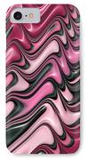 Shades Of Pink And Red Decorative Design IPhone Case by Matthias Hauser