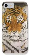 Siberian Tiger IPhone Case by Regan J Smith