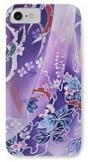 Skiyu Purple Robe Crop IPhone Case by Haruyo Morita