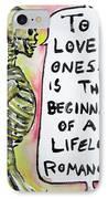 Skull Quoting Oscar Wilde.9 IPhone Case by Fabrizio Cassetta