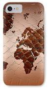 Snake Skin World Map IPhone Case by Zaira Dzhaubaeva