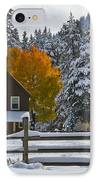 Snowed In At The Ranch IPhone Case by Mitch Shindelbower